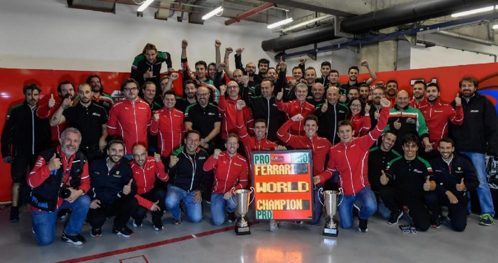 La Ferrari festeggia il campionato del mondo costruttori nel Wec