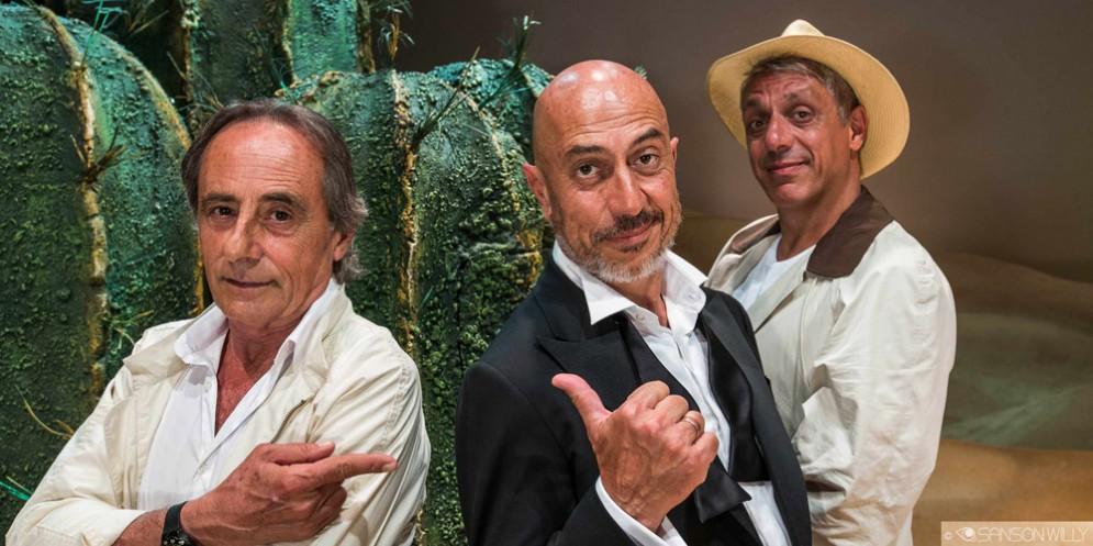 Gaspare, Roberto Ciufoli e Max Pisu in tour in Fvg con Sabbie mobili