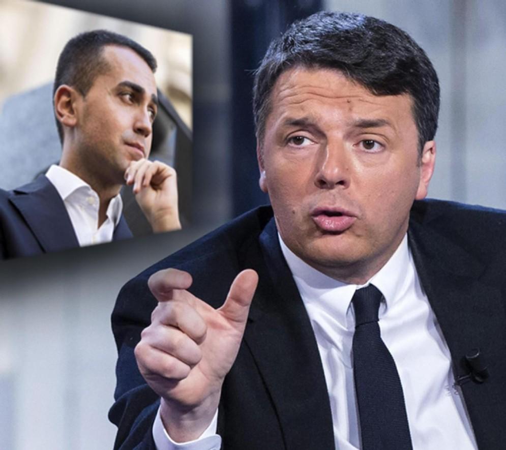 In una elaborazione grafica il segretario del Pd Matteo Renzi e il candidato premier M5s Luigi Di Maio