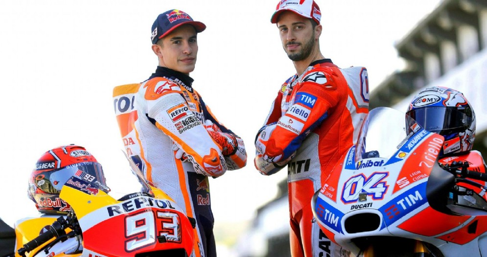 Marc Marquez e Andrea Dovizioso alla vigilia del GP di Valencia