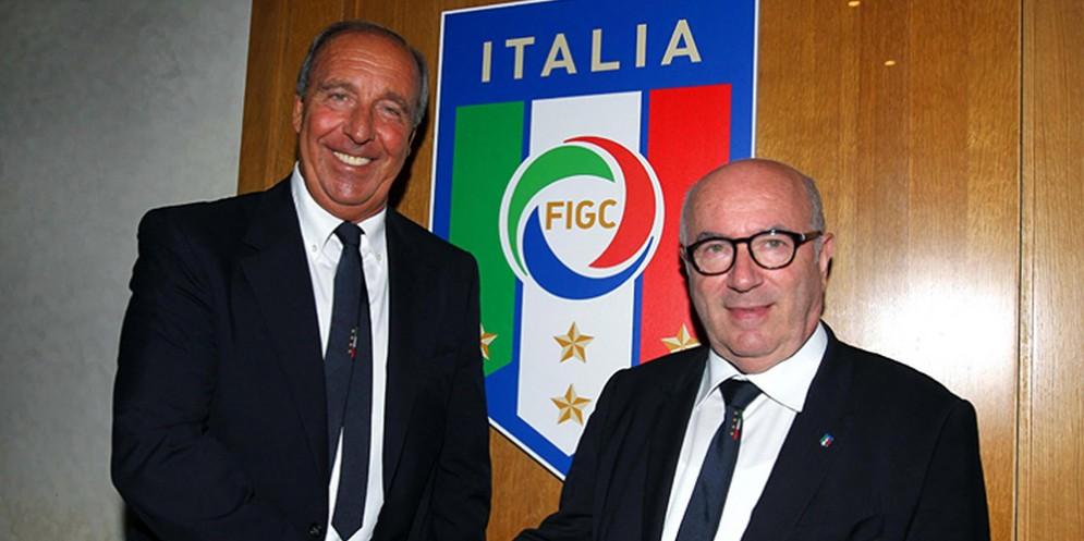Gian Piero Ventura e Carlo Tavecchio