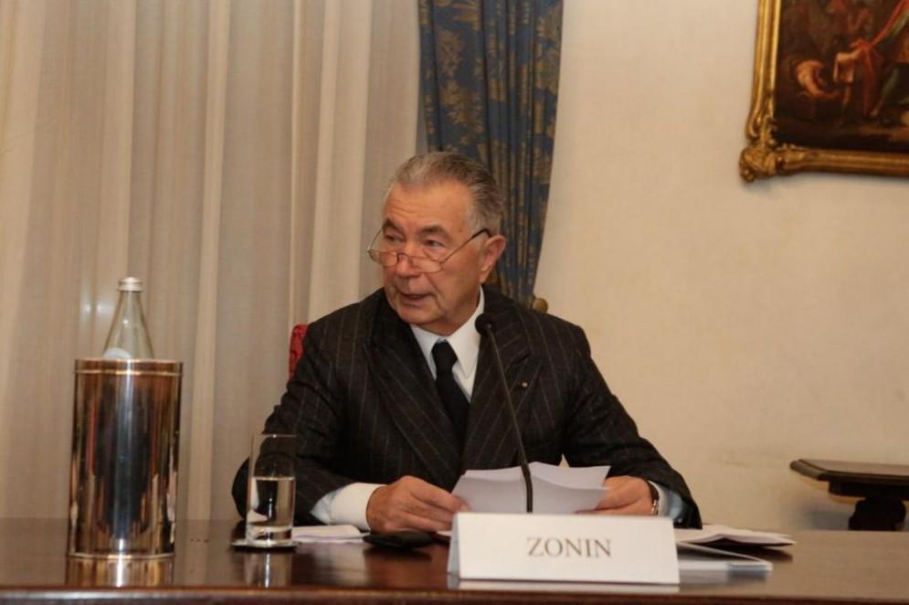 L'ex presidente della Banca Popolare di Vicenza, Gianni Zonin