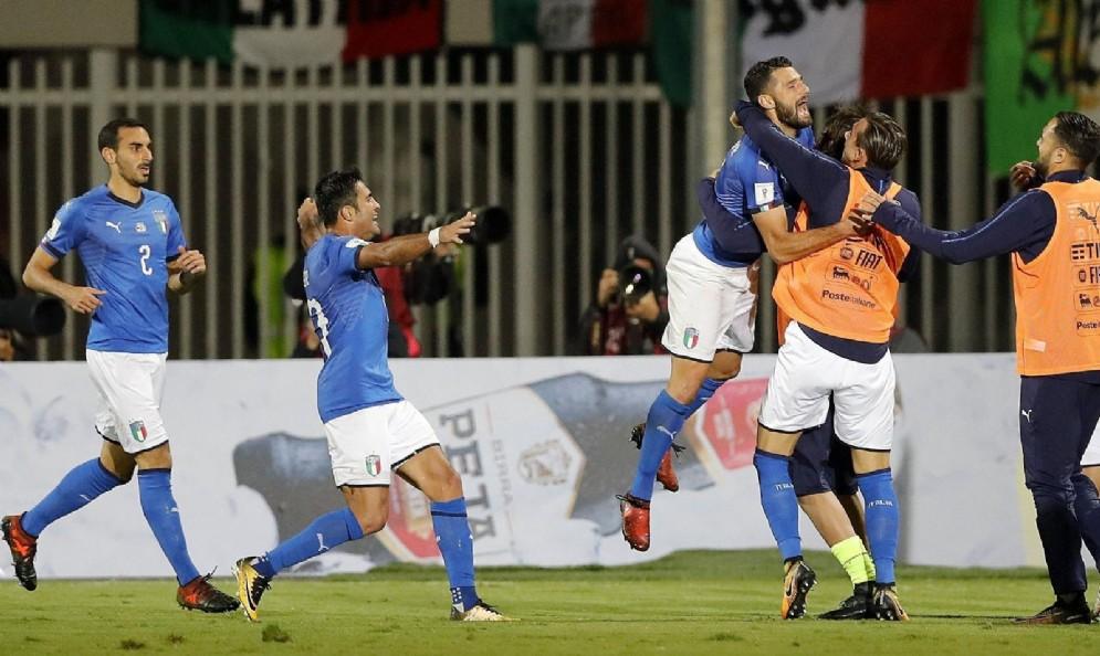 Un'immagine di esultanza della Nazionale Italiana