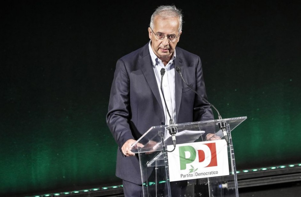 Walter Veltroni alla convention del Partito democratico