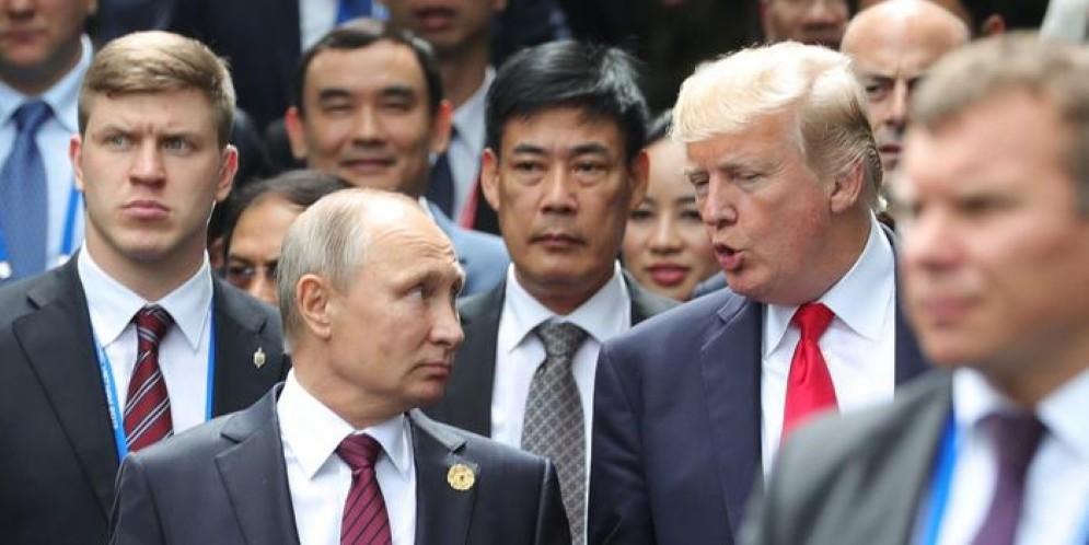 Vladimir Putin con Donal Trump