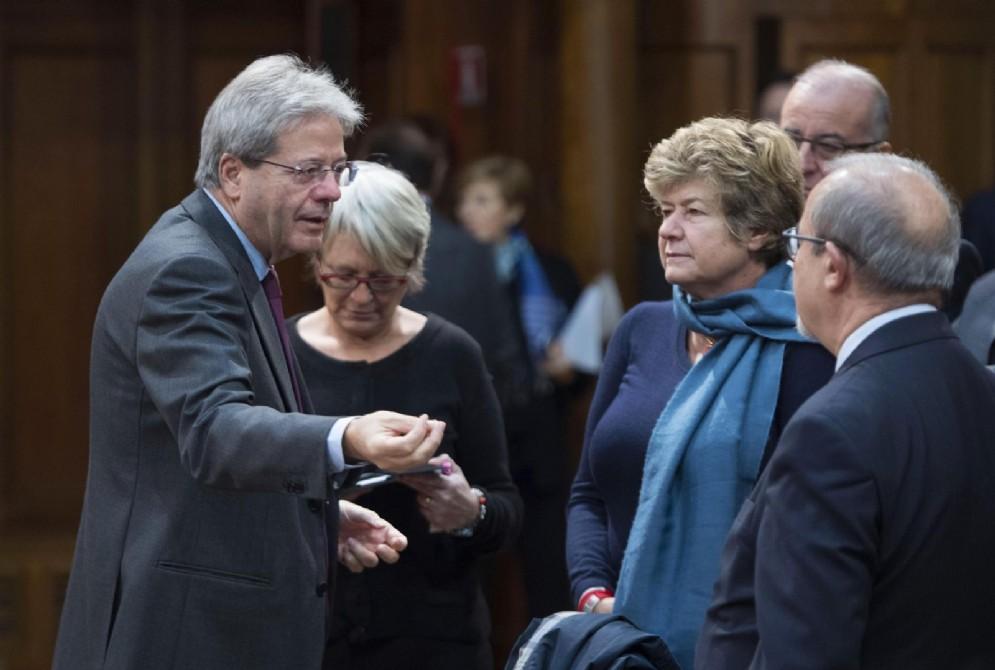Un momento dell'incontro a Palazzo Chigi tra Governo e sindacati sulle pensioni