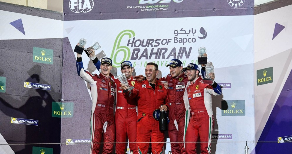 La doppietta nella 6 Ore del Bahrein: Alessandro Pier Guidi-James Calado e Sam Bird-Davide Rigon