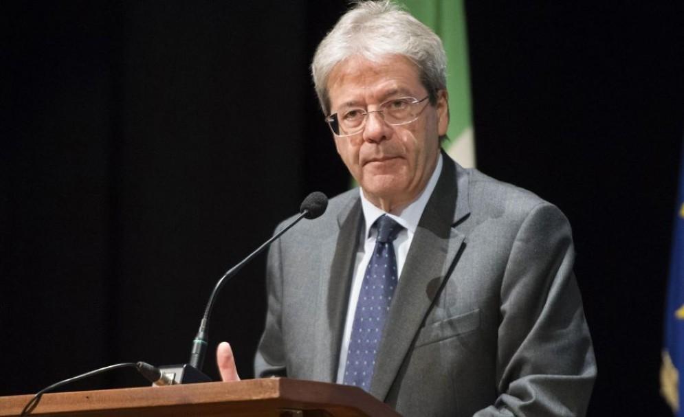Il presidente del Consiglio Paolo Gentiloni interviene all'assemblea congiunta dell'Associazione Industriali di Novara