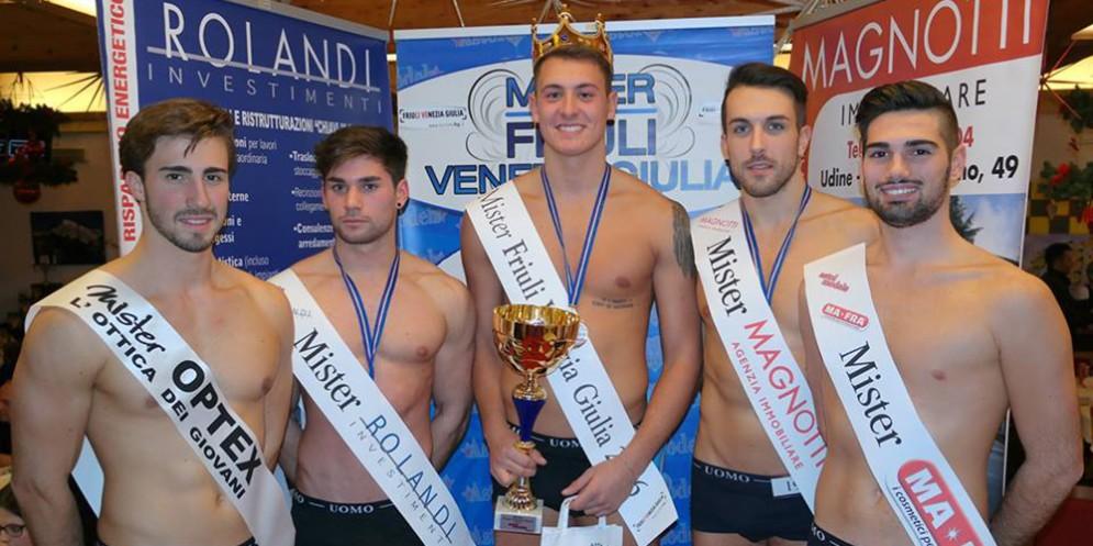 Angelo Clede, Mister Fvg 2016 e il gruppo di vincitori del 2016