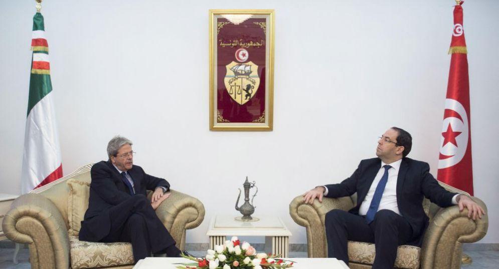 Il premier Paolo Gentiloni a Tunisi