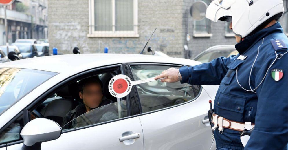 Decine gli automobilisti multati a Torino