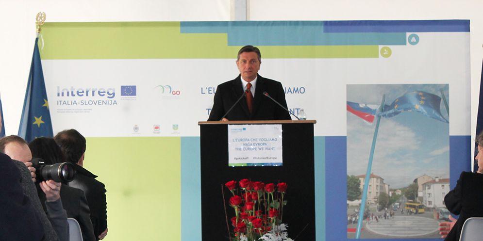 Il presidente della Repubblica di Slovenia Pahor a Gorizia per l'evento di lancio del Gect Go