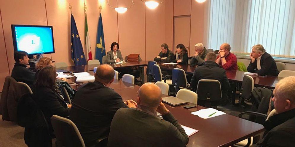 Sara Vito (Assessore regionale Ambiente ed Energia) alla riunione con i soggetti interessati alla costituzione del Contratto di fiume sullo Judrio