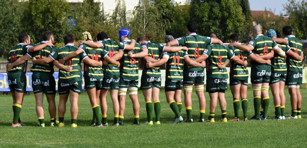 I giocatori del Biella Rugby (foto di Stefano Socco)