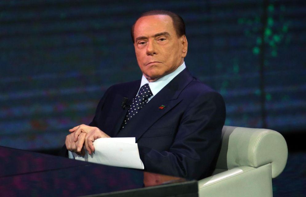 Il presidente azzurro Silvio Berlusconi a 'Che tempo che fa'