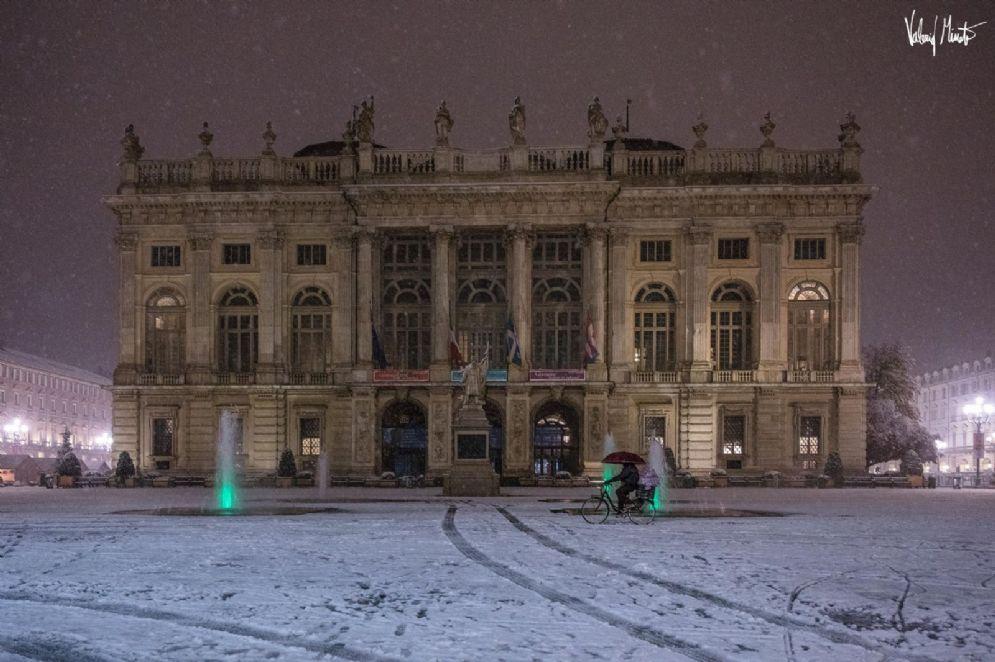 Palazzo Madama innevato