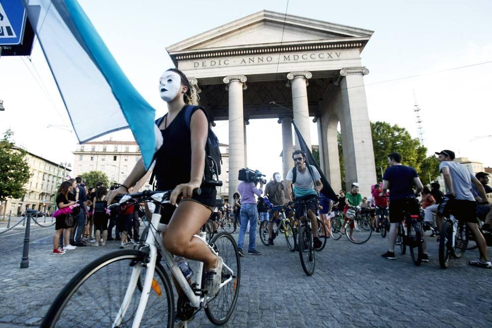 Protesta dei riders durante l'estate