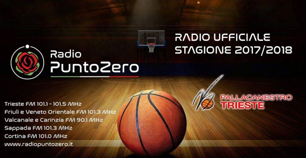 Pallacanestro Trieste sceglie Radio Punto Zero per le dirette radiofoniche