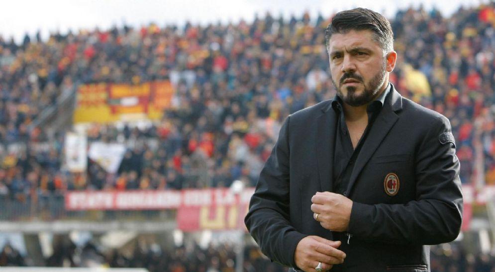 Il tecnico rossonero Rino Gattuso