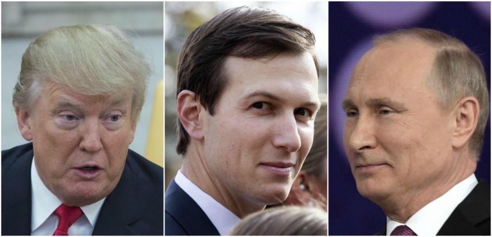 Donald Trump, Jared Kushner e Vladimir Putin