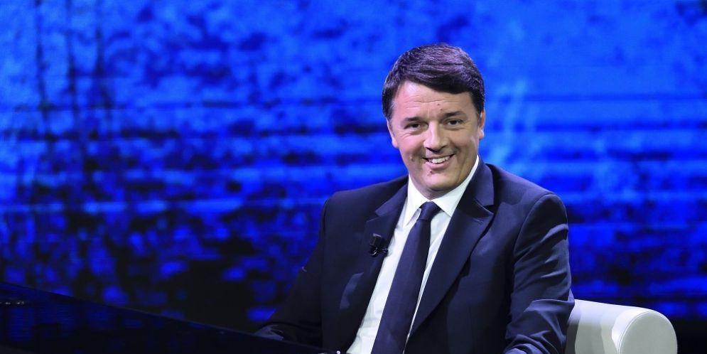 Il segretario del Partito democratico, Matteo Renzi, a 'Che tempo che fà' il 3 dicembre scorso
