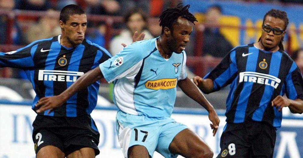Christian Mafredini con la maglia della Lazio