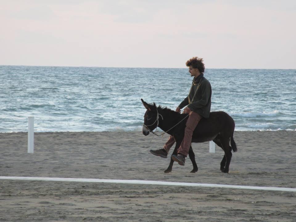 Nicola e Fefè in riva al mare