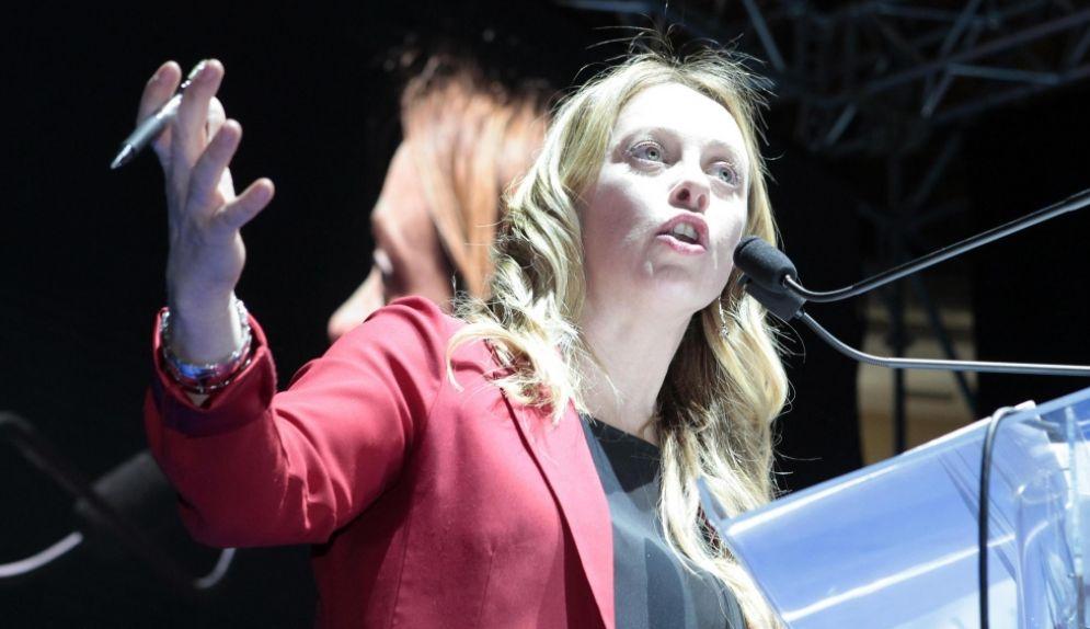 Giorgia Meloni al Congresso di FdI che si è svolto a Trieste il 2-3 dicembre 2017