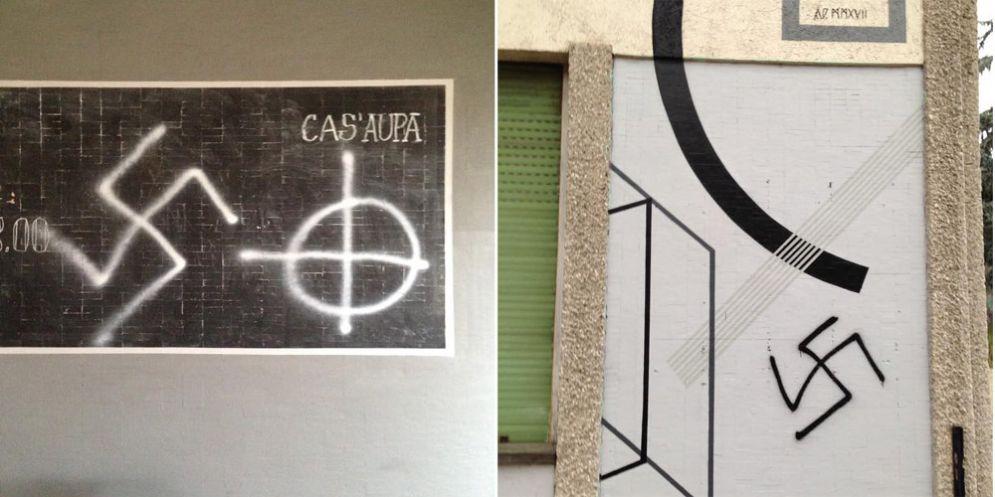 «Udine città antifascista»: lo sdegno delle istituzioni per le svastiche a Cas'Aupa