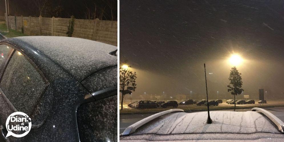 Come annunciato, ecco la prima neve sulla città