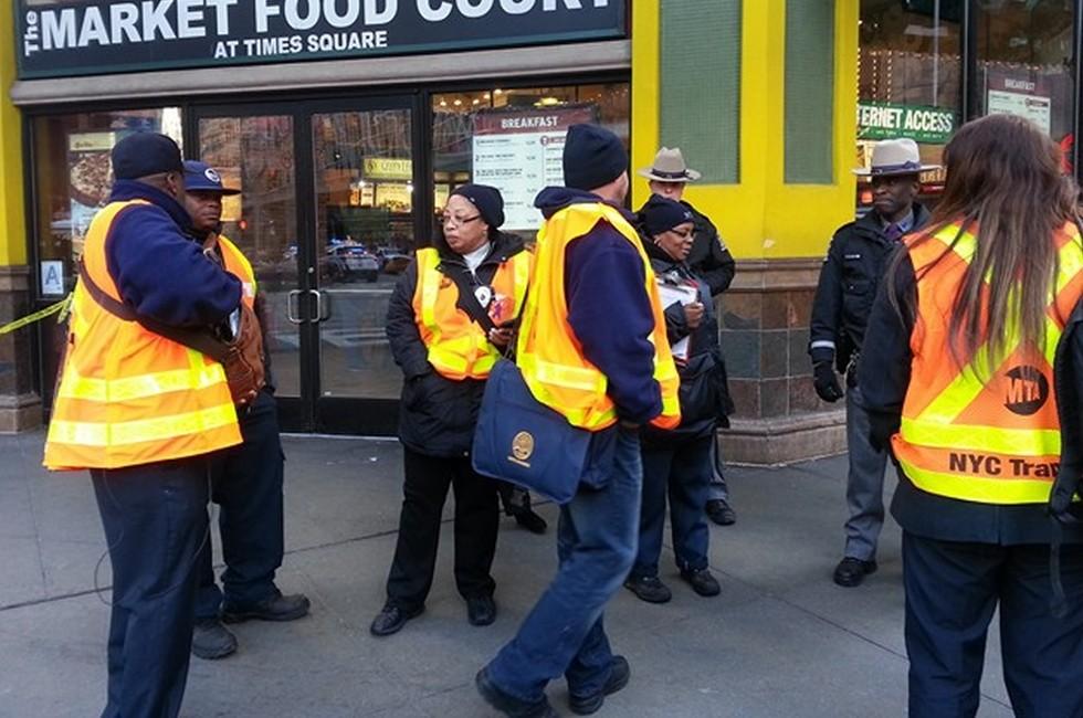 Un'immagine dal luogo dell'attentato, New York
