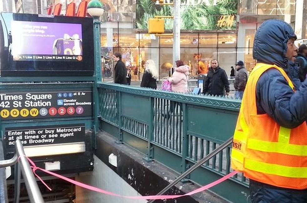Un'immagine dal luogo dell'attentato, New York City