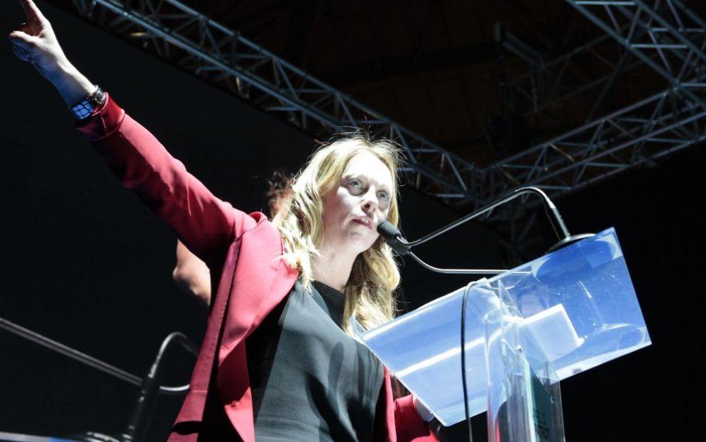 La presidente di FdI Giorgia Meloni al congresso del partito a Trieste