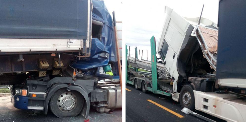 Tamponamento fra mezzi pesanti: 7 km di coda tra Latisana e San Giorgio di Nogaro