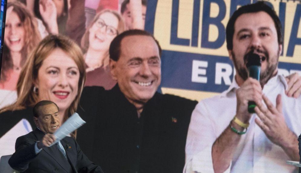 Silvio Berlusconi parla dell'alleanza con Giorgia Meloni e Matteo Salvini a Porta a Porta