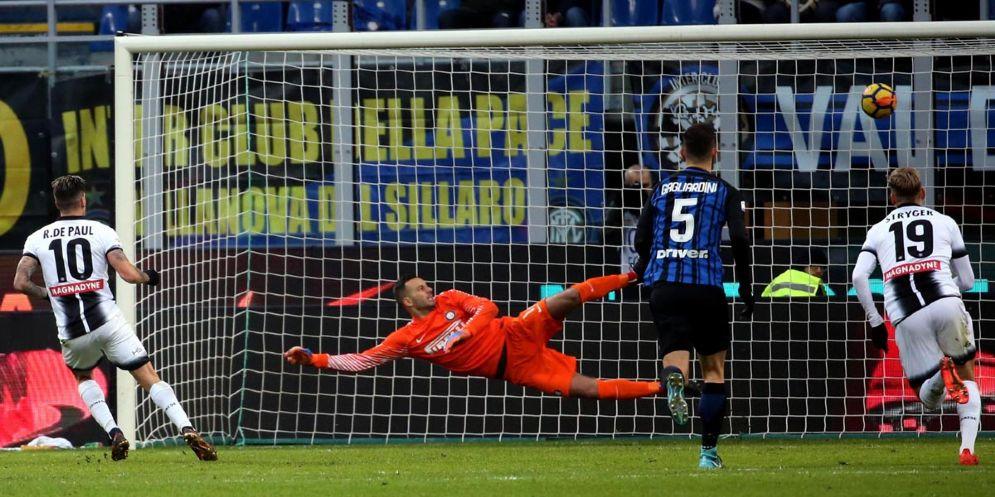 L'Udinese vince a San Siro e batte la capolista