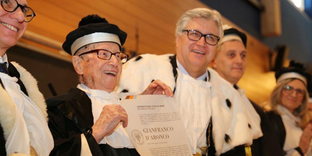 Conferita a D'Aronco la laurea 'ad honorem' in Italianistica