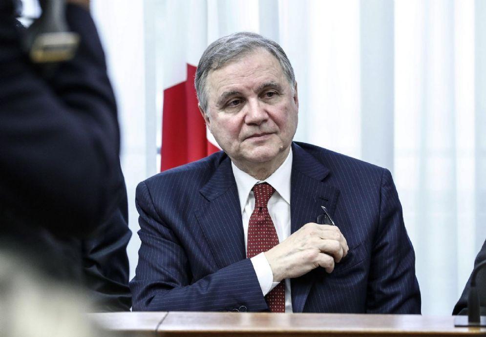 Il governatore della Banca d'Italia Ignazio Visco durante l'audizione in commissione d'inchiesta sulle banche