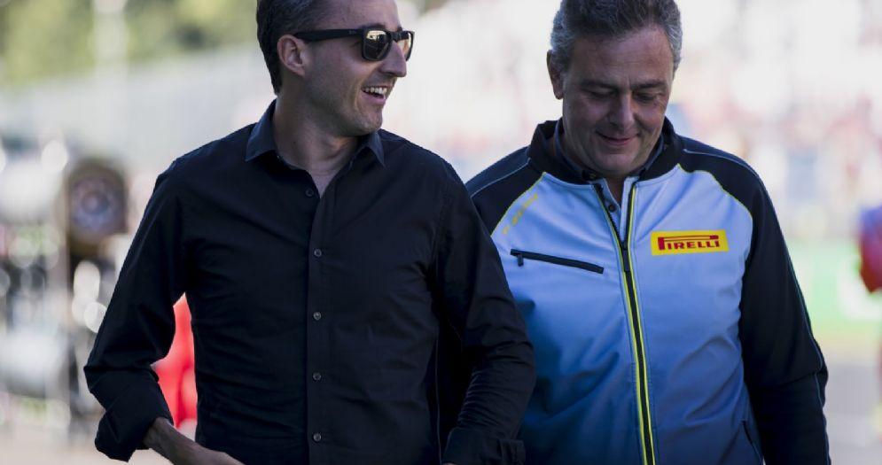 Robert Kubica con il boss della Pirelli Mario Isola