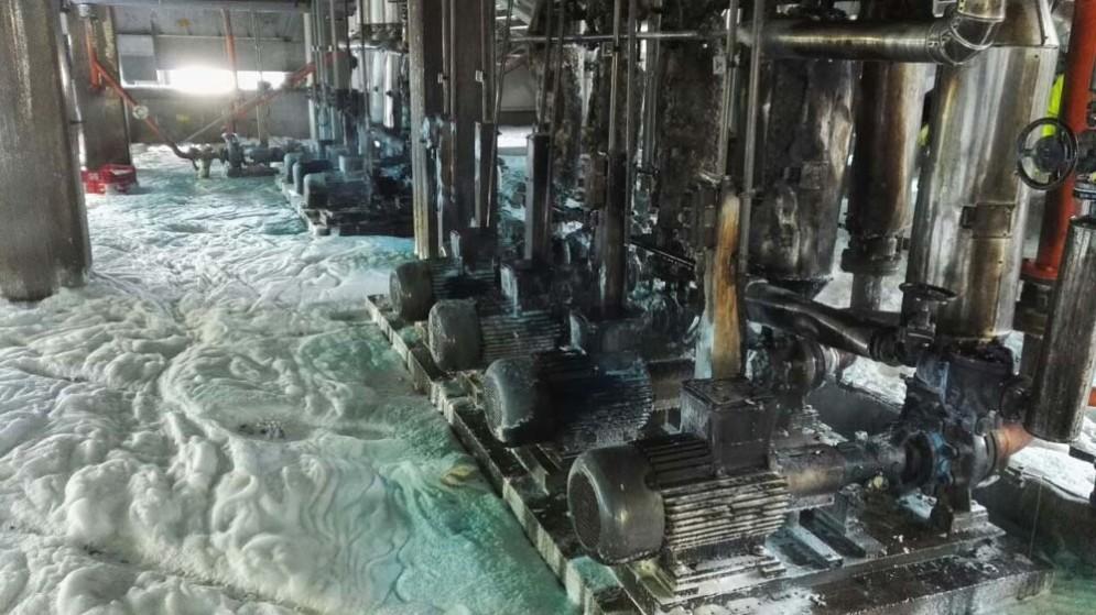 Incendio all'oleificio di San Giorgio: moltissimi i danni alla struttura