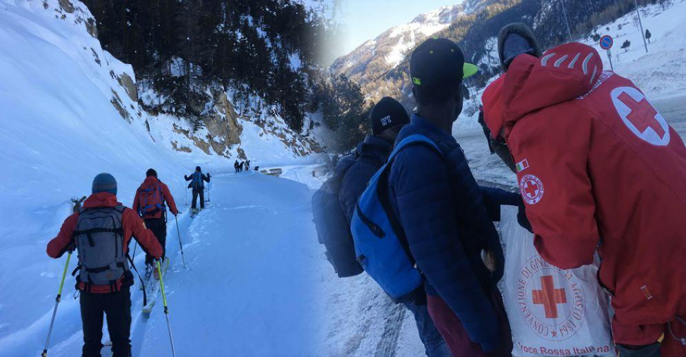 I migranti soccorsi ieri a Bardonecchia