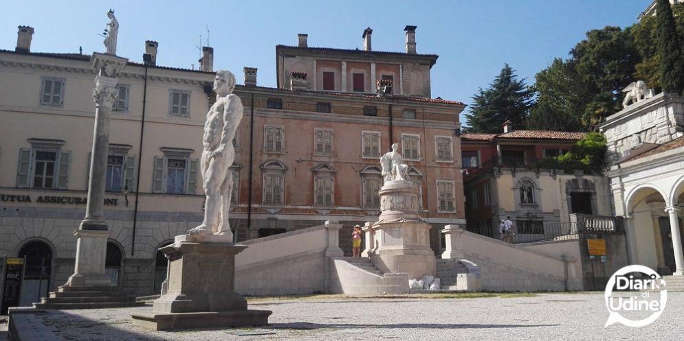 Piazza Libertà: nuovo contributo di Danieli spa per completare il restauro