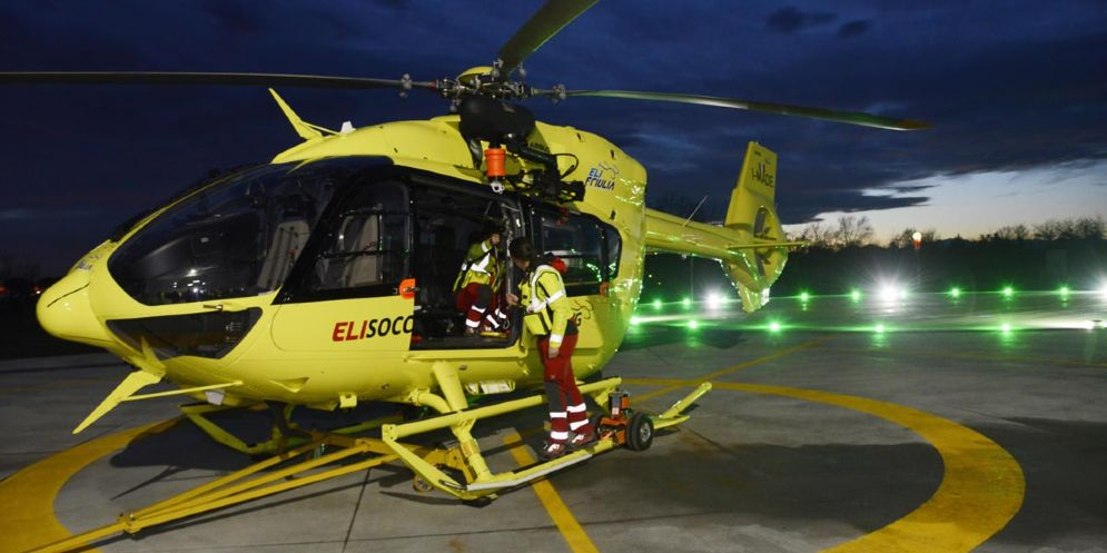 In Fvg la prima base per Servizio medico di emergenza con elicotteri