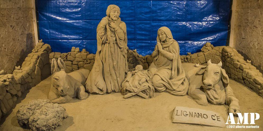 Inaugurato ad amatrice il preseper di sabbia realizzato dalle associazioni lignanesi