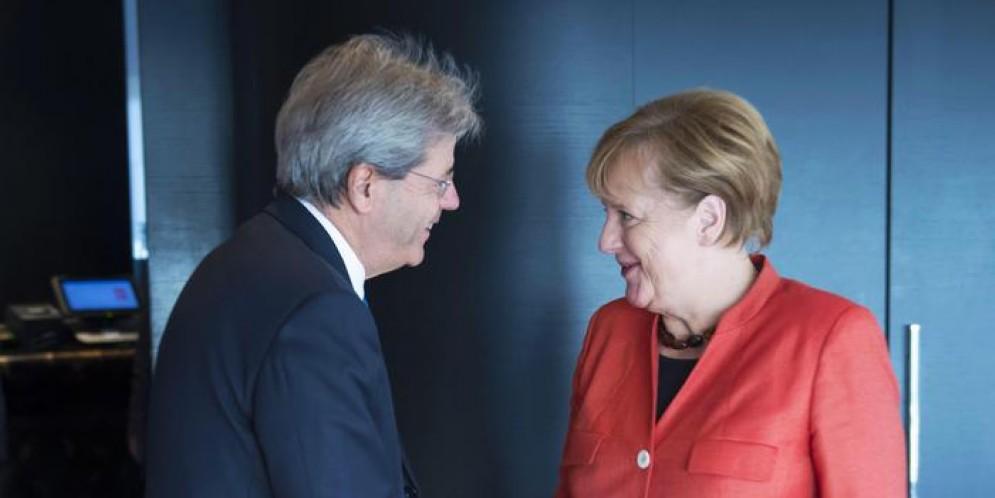 Il Premier Gentiloni con la Cancelliera Angela Merkel