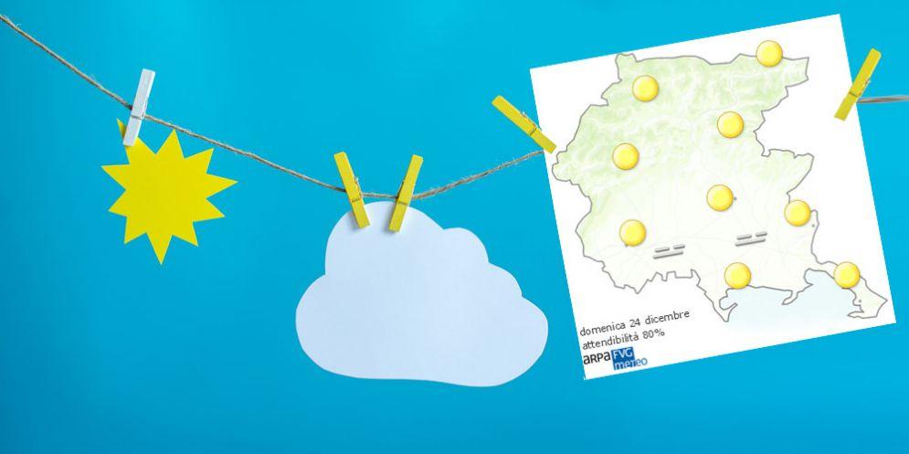 Che tempo farà domenica 24 dicembre? Ve lo dice l'Osmer Fvg