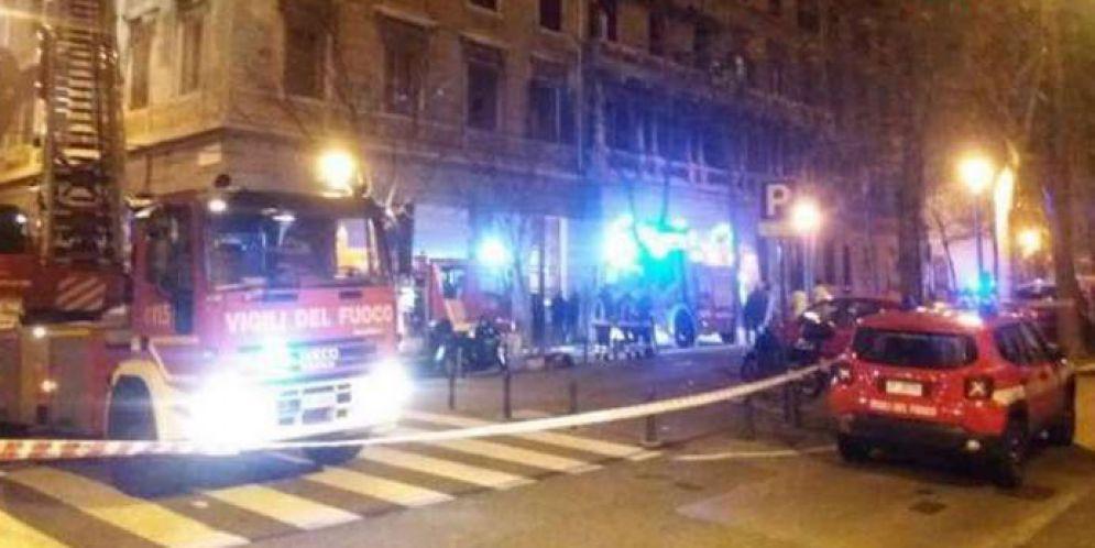 Appartamento in fiamme in viale XX Settembre