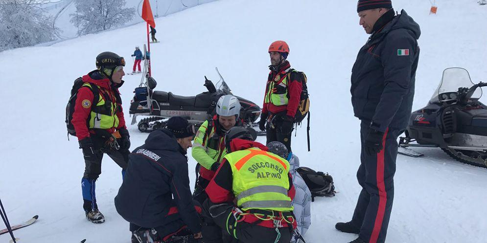 Soccorso dal Cnsas un ragazzo caduto sulla pista del Piancavallo