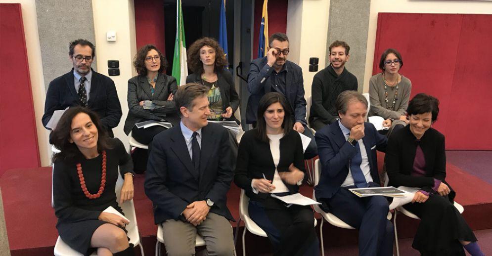 Chiara Appendino e la Giunta, durante la conferenza di fine anno