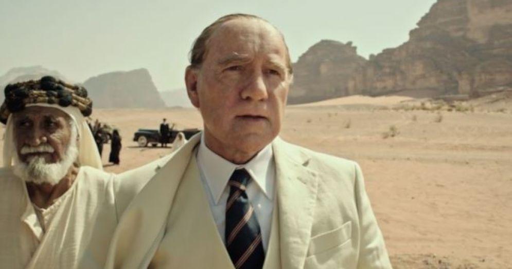 Un fotogramma del primo trailer di «Tutti i soldi del mondo», con Kevin Spacey nei panni di John Paul Getty